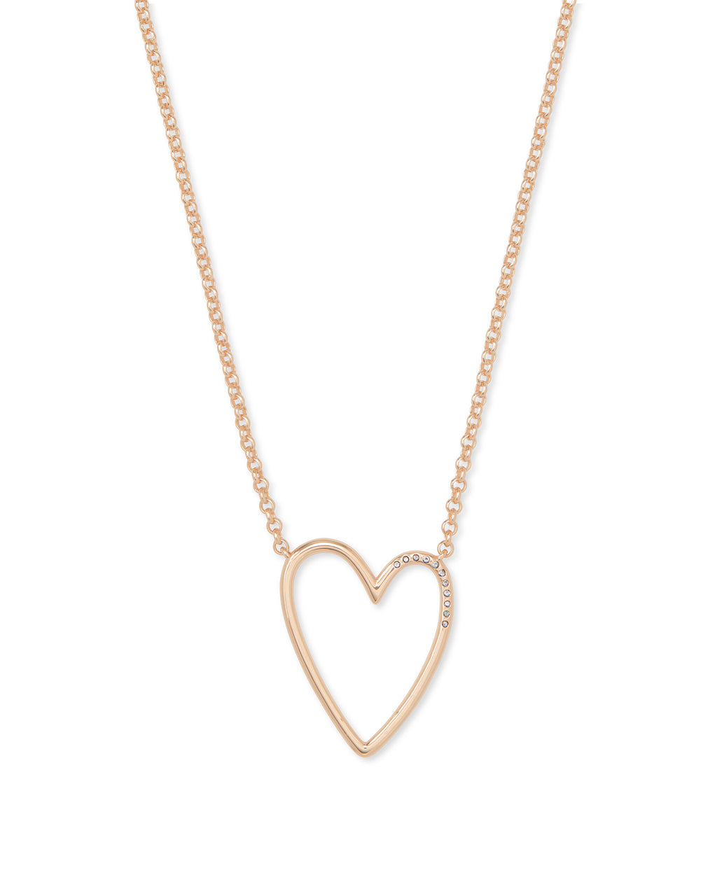 Ansley Pendant Necklace in Rose Gold