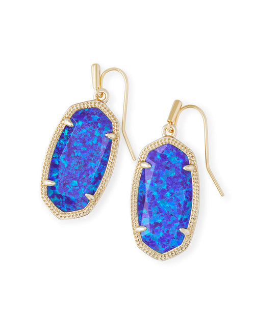 Dani Gold Earring in Violet Opal