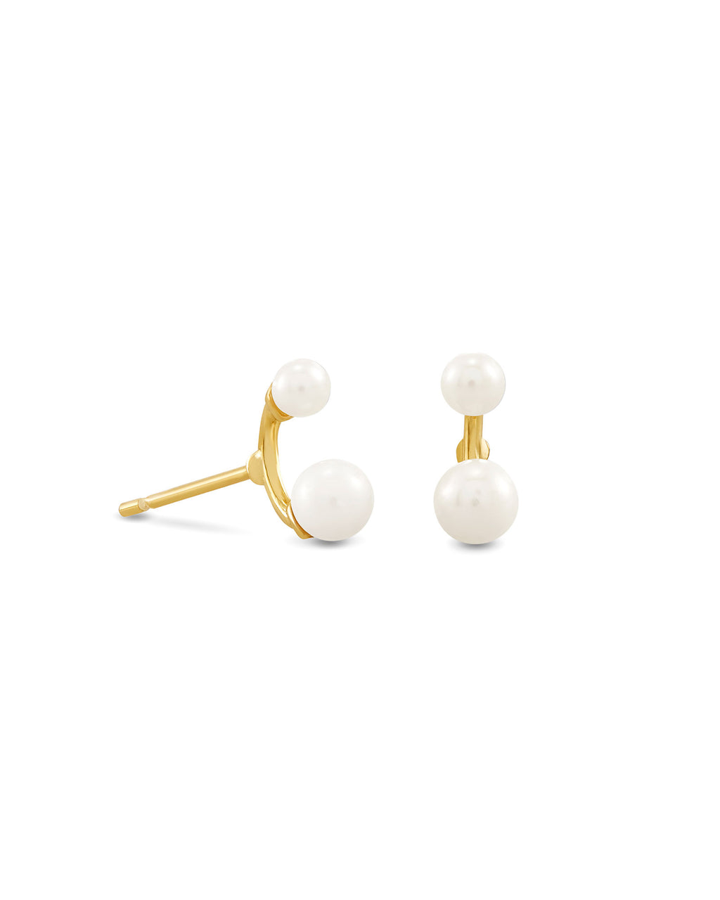 Demi Stud Earring in Gold Baroque Pearl