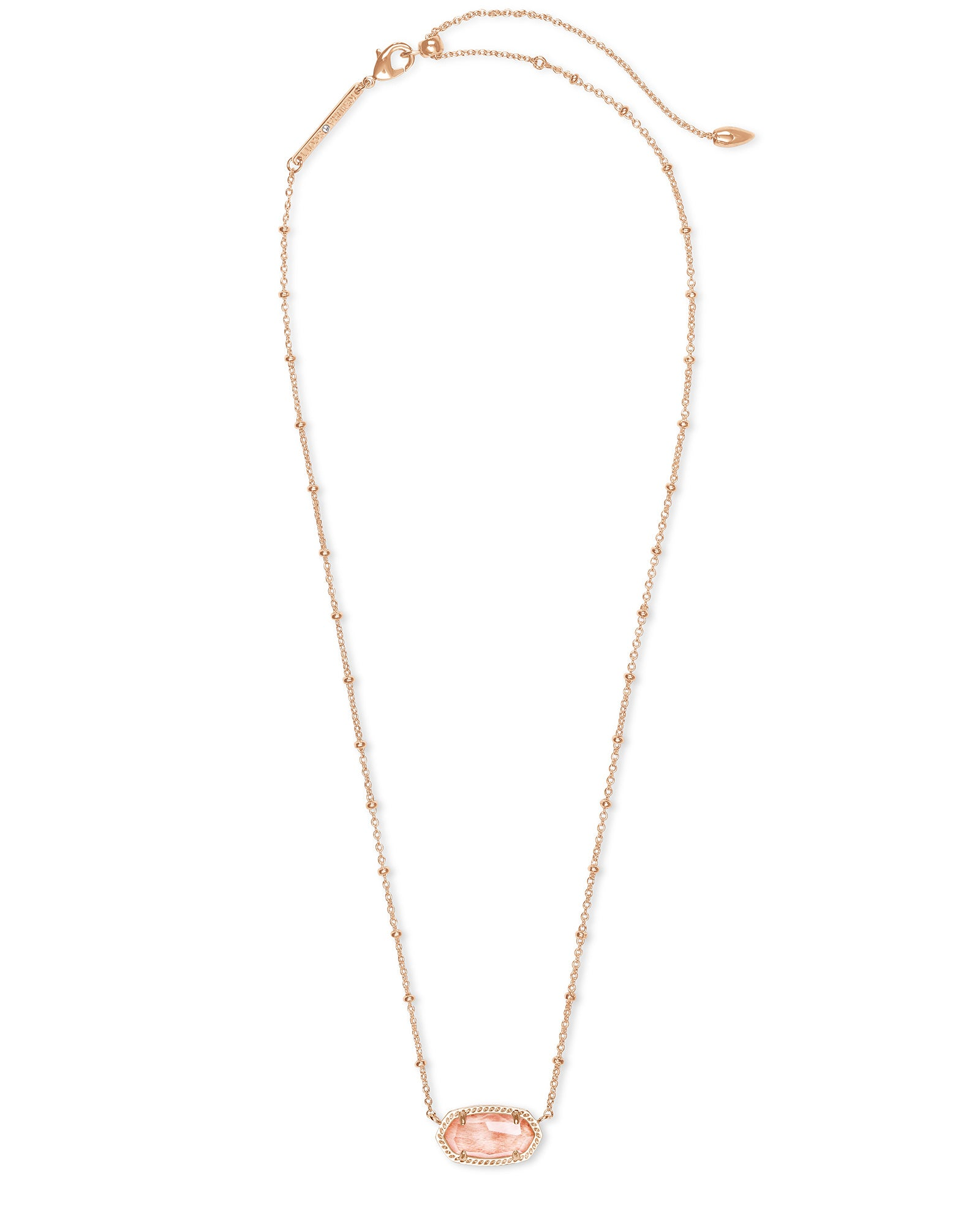 Elisa Rose Gold Necklace in Blush Wood
