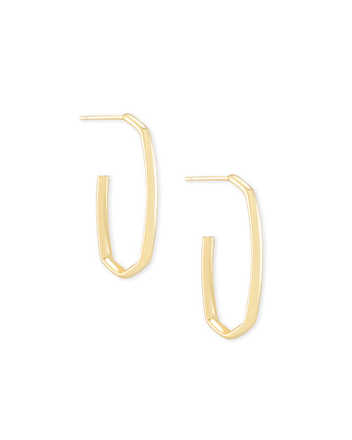 Ellen Hoop Earring Gold Metal