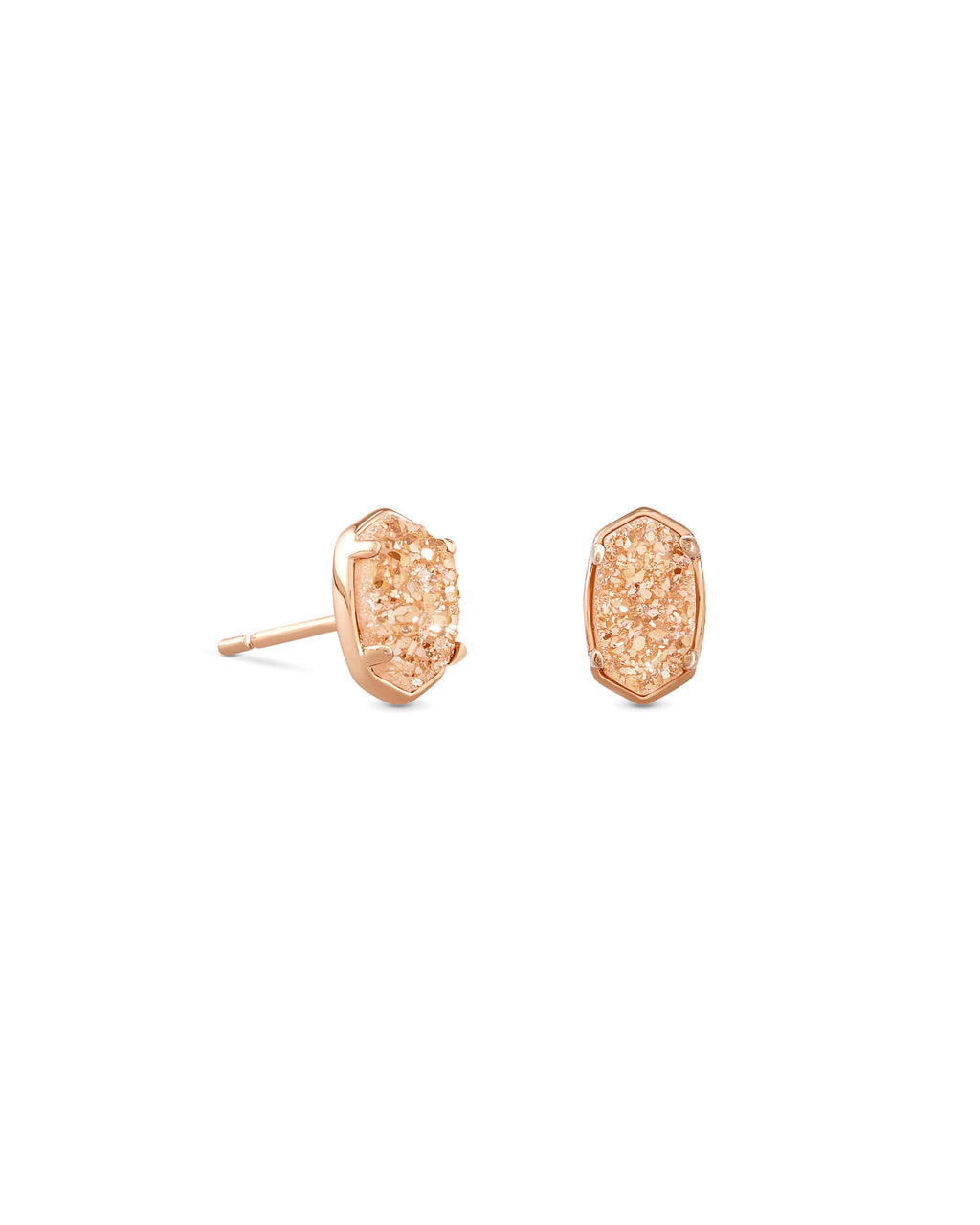 Emilie Stud Earring in Rose Gold Sand Drsuy