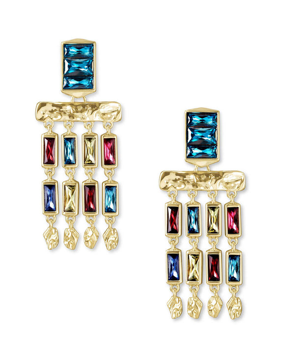Jack Small Statement Earring in Gold Jewel Tone Mix