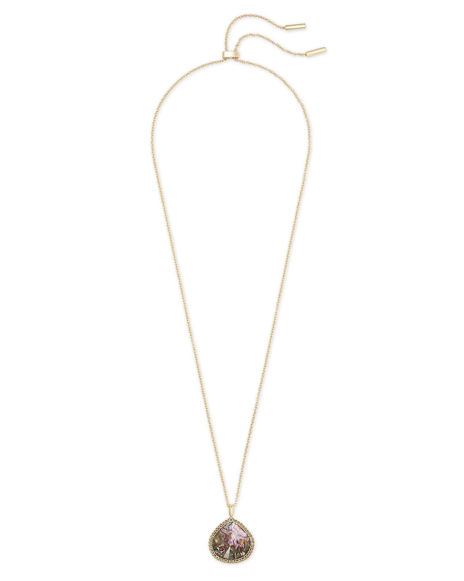 Kenzie Gold Necklace in Nude Abalone