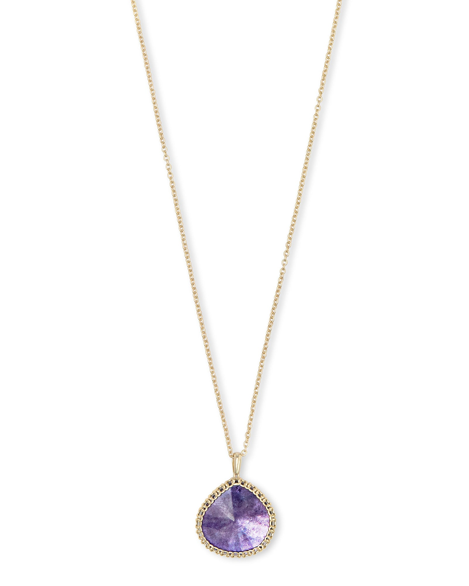 Kenzie Gold Necklace in Purple Mica