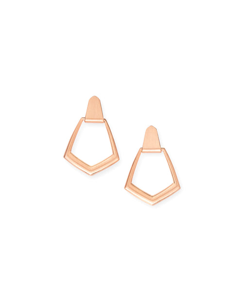 Paxton Hoop Earrings In Rose Gold