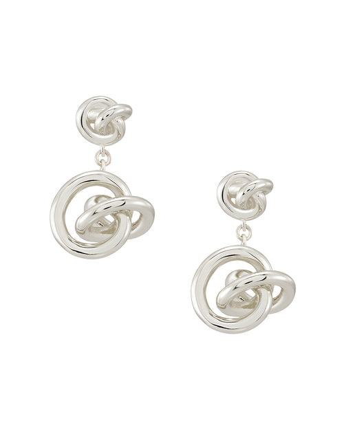 Presleigh Drop Ear Ring in Bright Silver