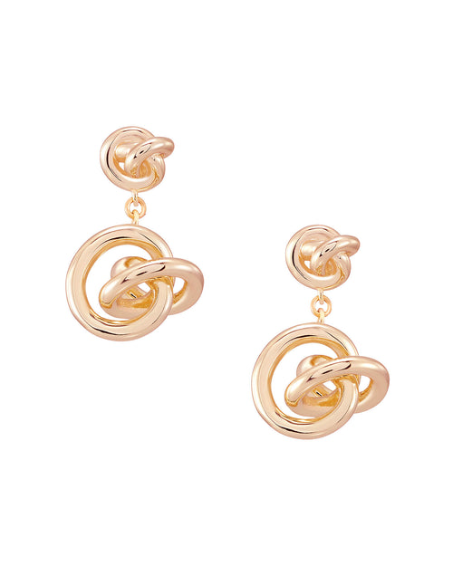 Presleigh Drop Ear Ring in Rose Gold