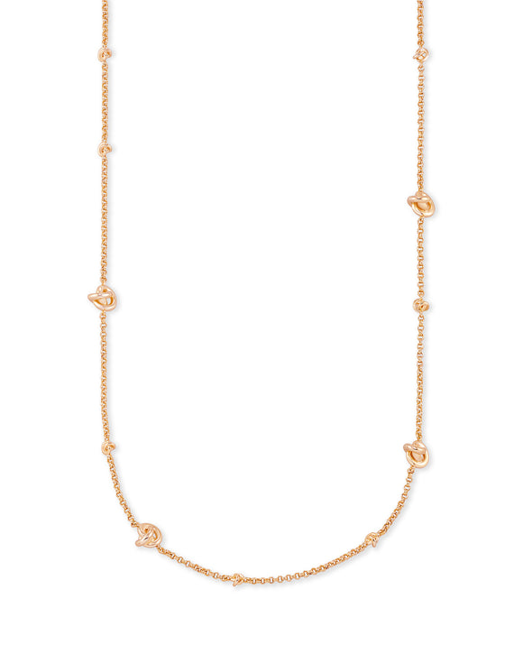 Presleigh Short Stand Necklace in Rose Gold