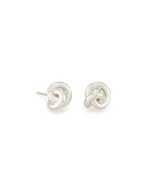 Presleigh Stud Ear Ring in Bright Silver