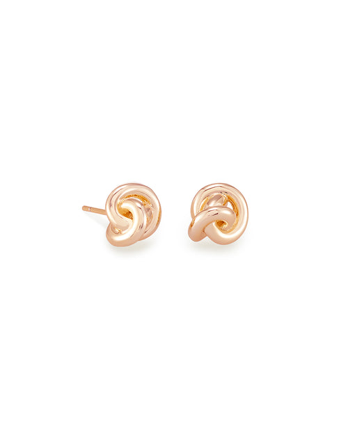 Presleigh Stud Ear Ring in Rose Gold