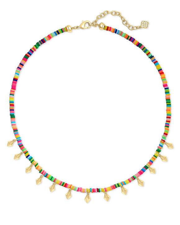 Reece Choker Necklace in Gold Neon Mix