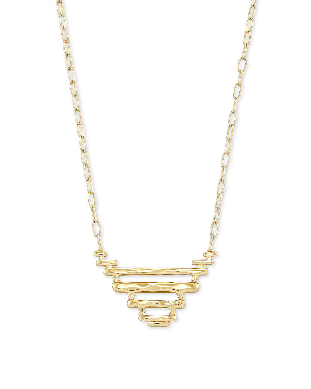 Rylan Pendant Necklace in Gold Metal