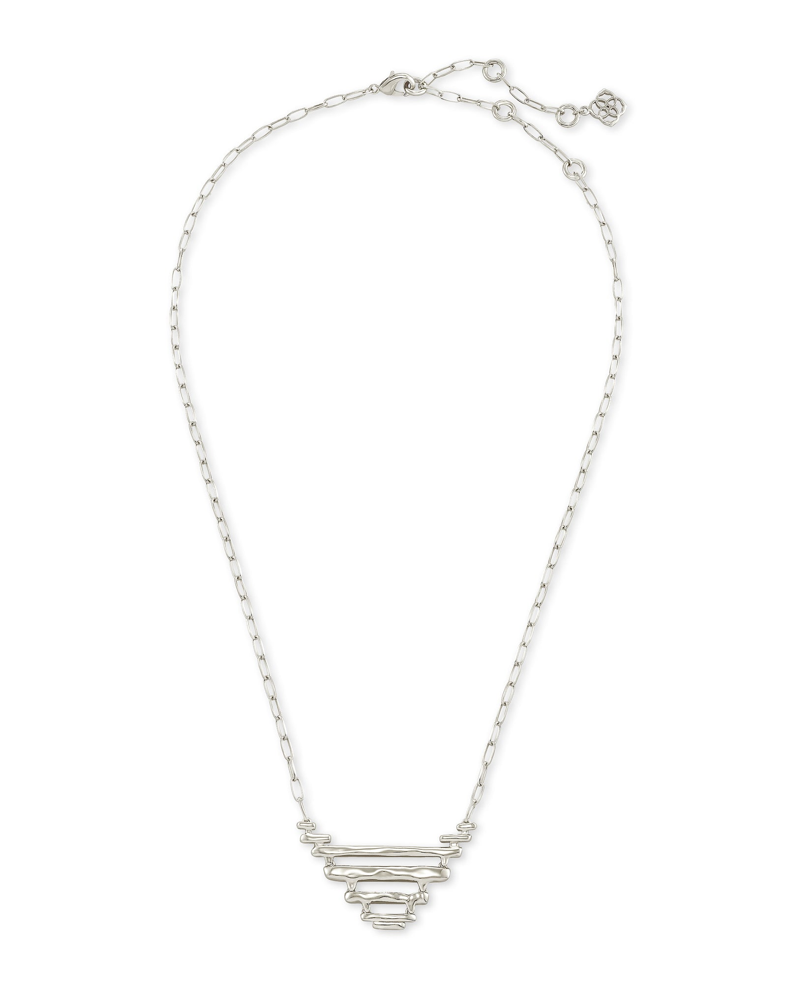 Rylan Pendant Necklace in Silver Metal