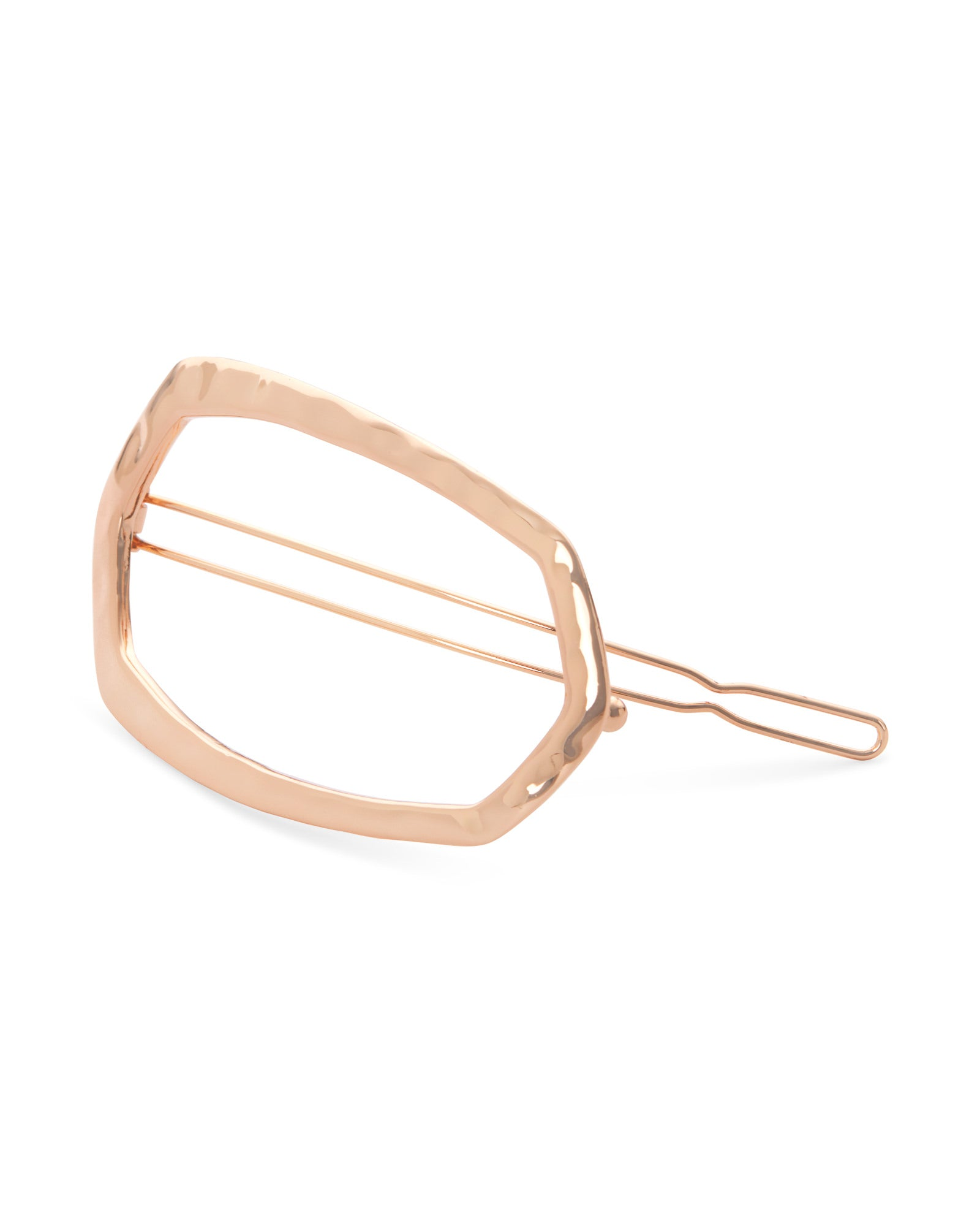 Zorte Small Hair Clip in Rose Gold