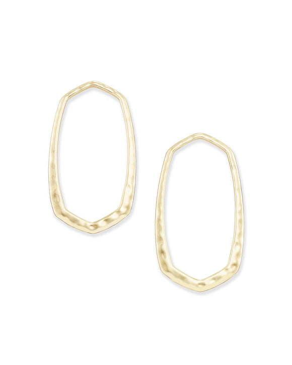 Zorte Open Frame Earring in Gold Metal