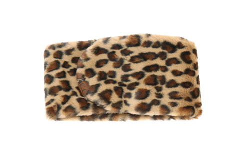 Leopard Fur Scarf in Latte