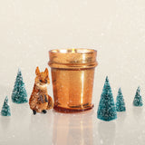 8 Oz Found Glass Copper Glitter Jar
