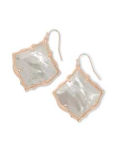 Kirsten Drop Earrings In Rose Gold