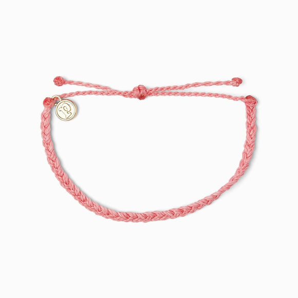 Mini Braided Bracelet in Petal Pink