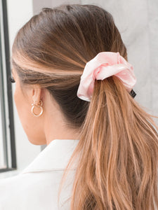 Caring for Me Satin Scrunchie in Blush