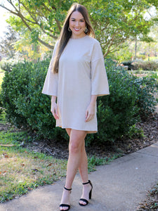 Inside Scoop Beige Dress
