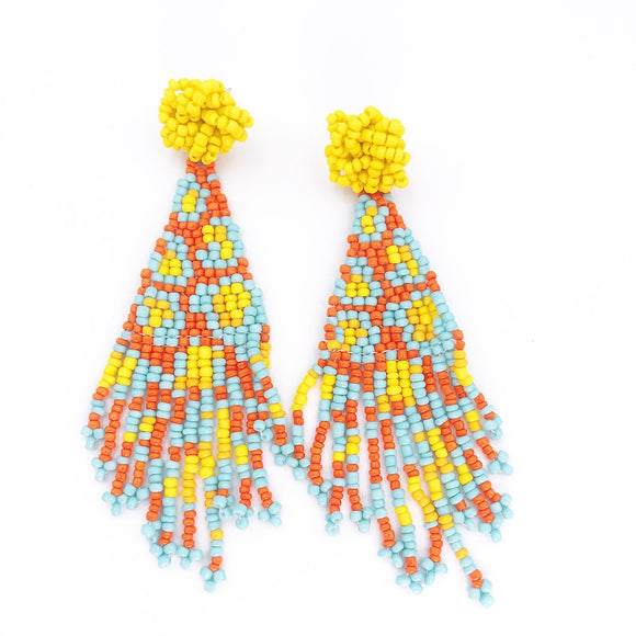 The Tapestry Earring in Yellow