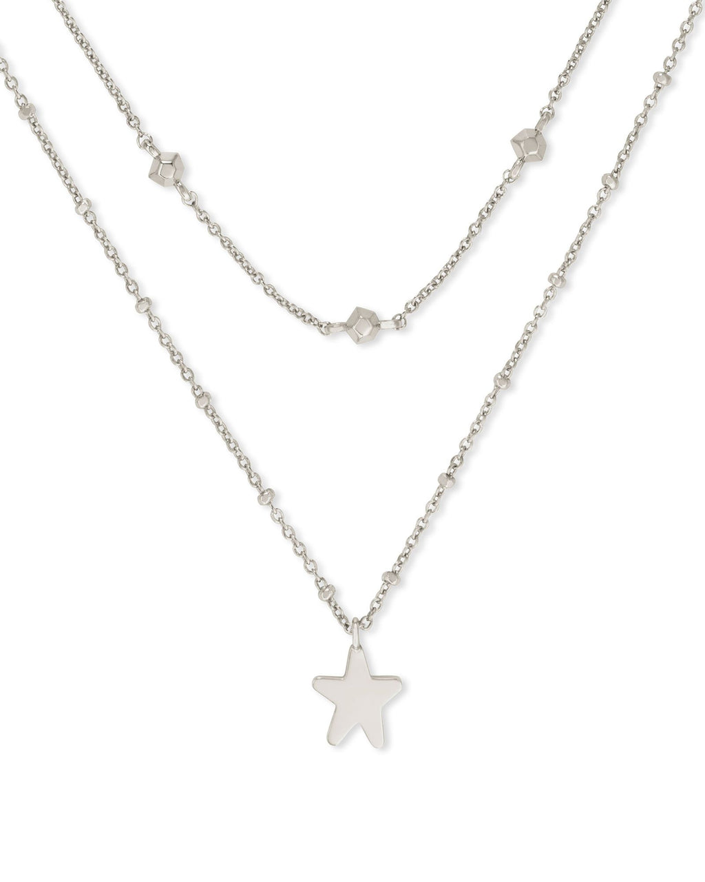 Jae Star Silver Multi Strand Necklace