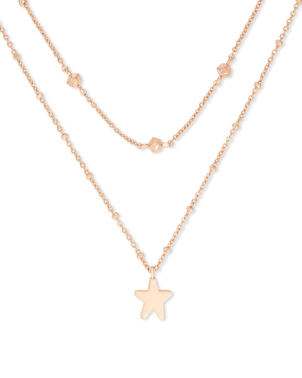 Jae Star Rose Gold Multi Strand Necklace