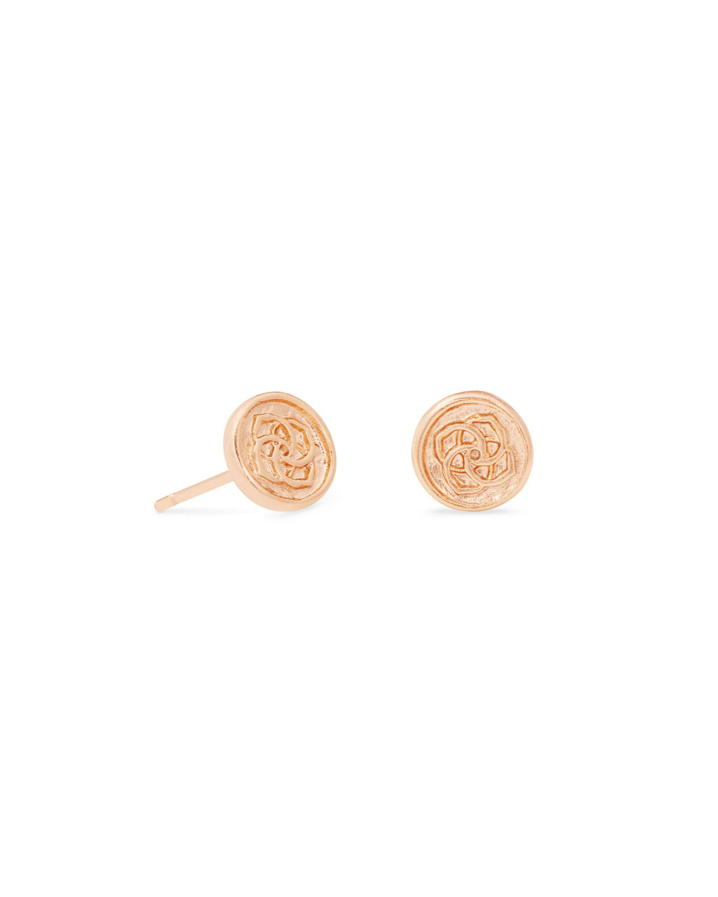 Dira Coin Stud Earring in Rose Gold Metal