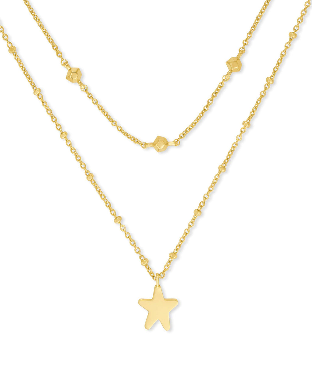 Jae Star Gold Multi Strand Necklace