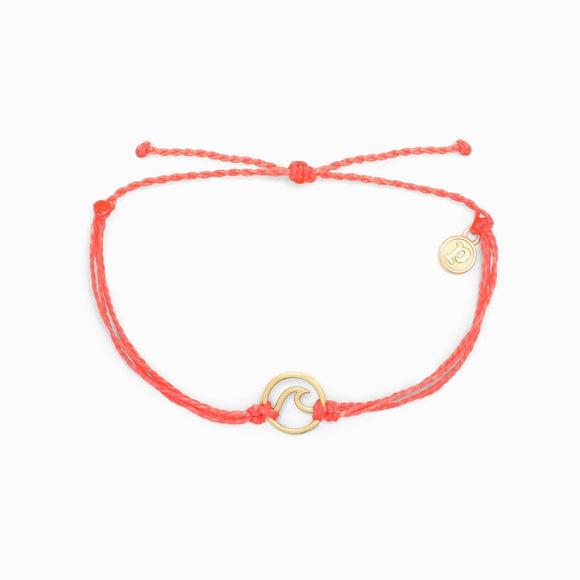 Gold Wave Bracelet in Strawberry