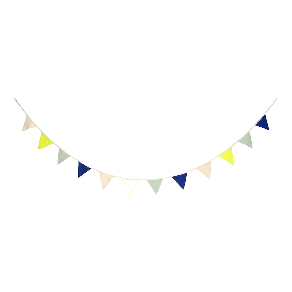 Blue Knitted Bunting