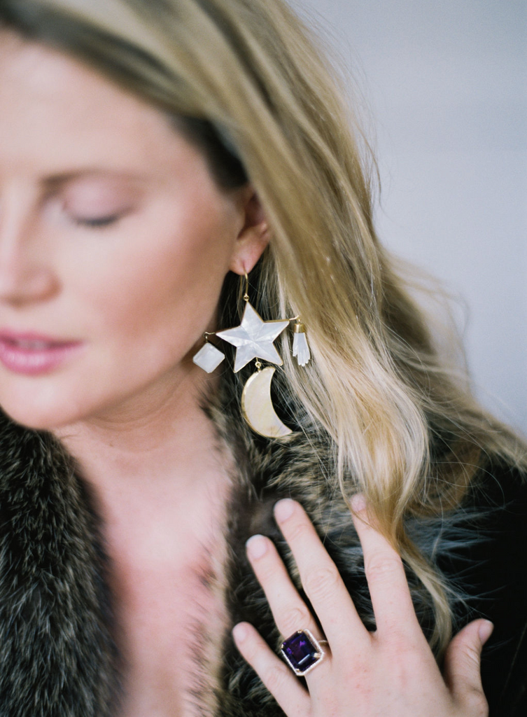 grainne morton, moon and star earrings, grainne morton earrings