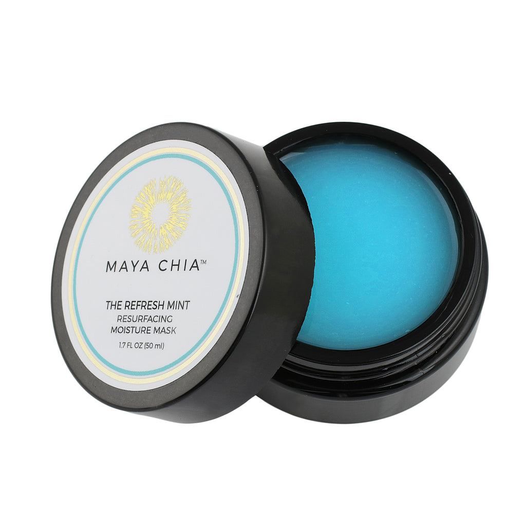 Maya chia, Maya chia mask, Maya chia resurfacing mask, Maya chia the refresh mint, the refresh mint