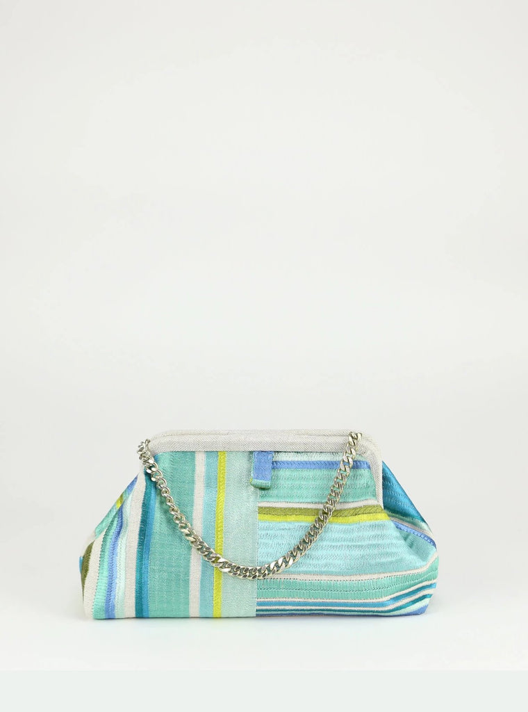 Marian Paquette - Liette Green Stripe Bag