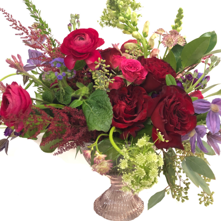 floral delivery, flowers, arrangement, floral arrangement, roses, valentines day arrangement