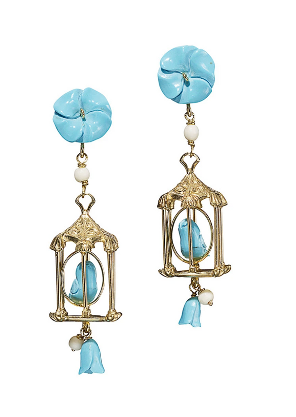Pagoda Earring in Turquoise