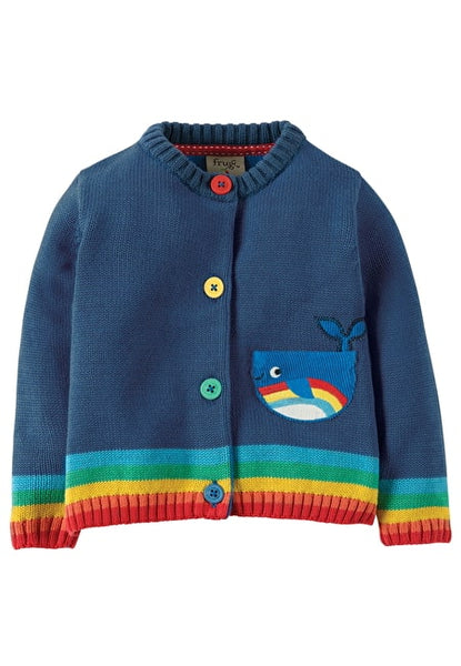 Cardigan Little Happy Day Navy Whale Frugi Jacke Wal