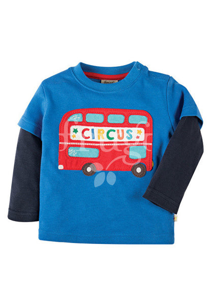 Top Applique Bus Shirt Frugi