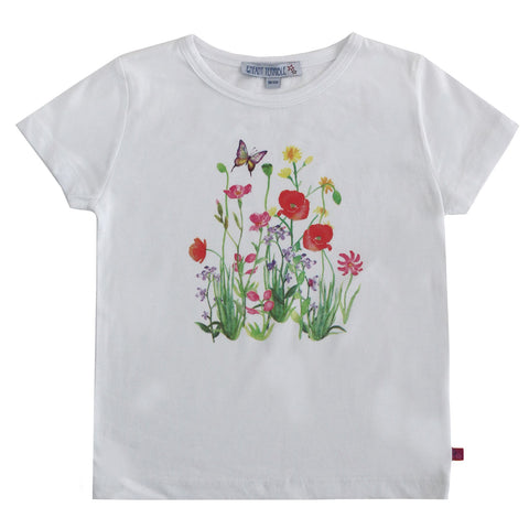 shirt mit blumen applikation