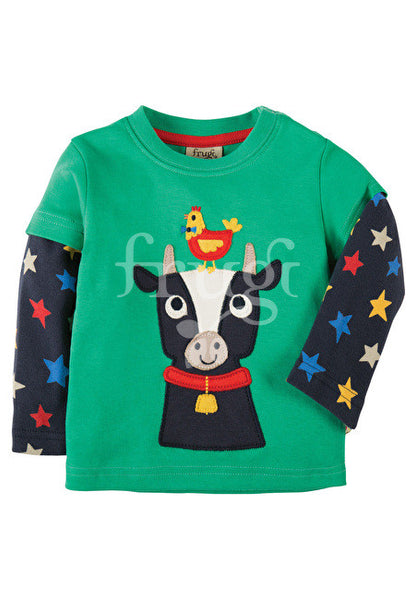 Shirt Eden Green/Cow  Kuh Frugi