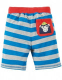 Stripy Shorts Blue Stripe Monkey Hose Frugi baby
