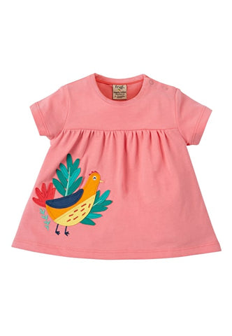 T-Shirt mit Goldfasan Applikation von Frugi