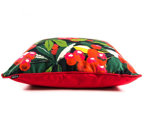 Cherry red floor cushion