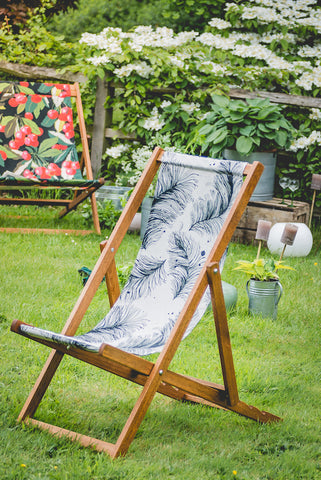 luxury reclining deckchair