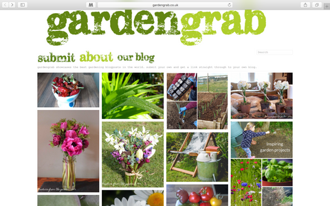 Our garden blog features on Garden Grab