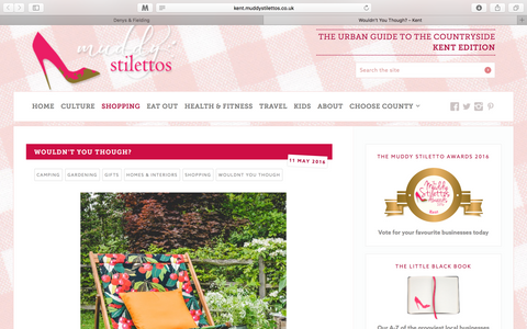 Our deckchairs and patio furniture featured in Muddy Stilettos