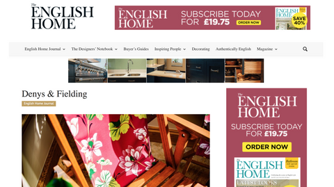 The English Home journal, featuring Denys & Fielding