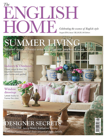 Our beach chair and us were included in the 'People to watch' section of the English Home Magazine